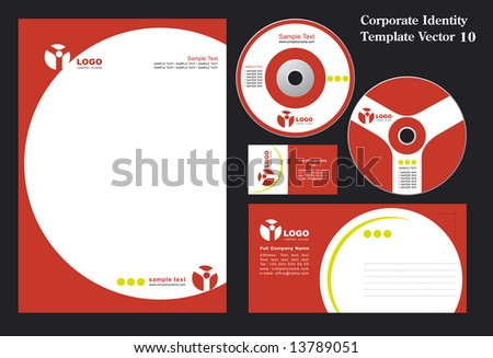 Corporate Vector Business Template 10 - stock vector