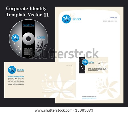 Corporate Vector Business Template 11 - stock vector