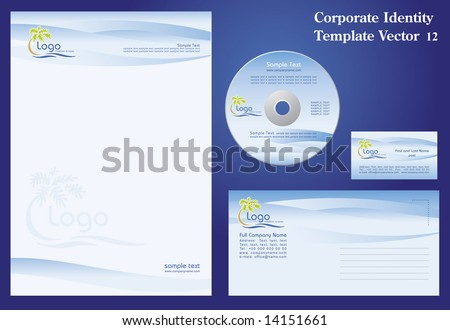 Corporate Vector Business Template 12 - stock vector