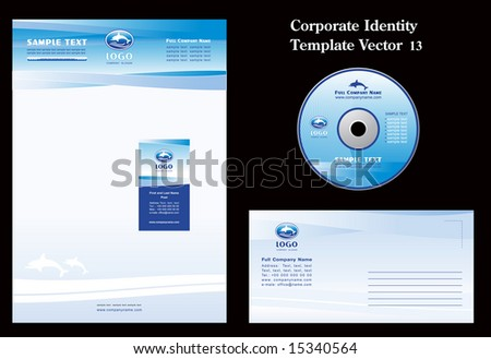 Corporate Vector Business Template - stock vector