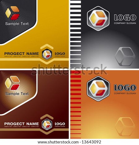 Corporate Vector Business Template Background with Logo (others elements of this template are in my portfolio) - stock vector