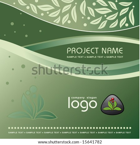 Corporate Vector Nature Template Background with Logo (others elements of this template are in my portfolio) - stock vector