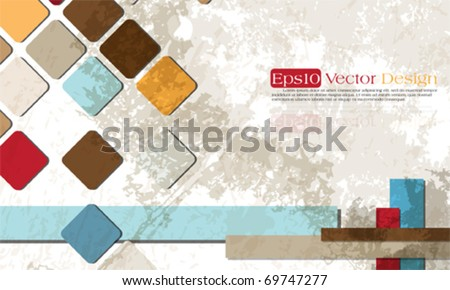 Corporate vintage background design, eps10 vector - stock vector