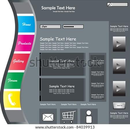 Corporate web template - stock vector
