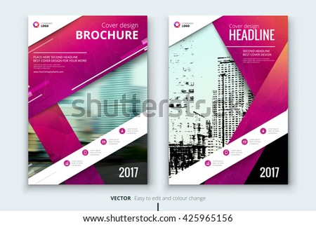 Blue Corporate Business Annual Report Brochure Stock Vector