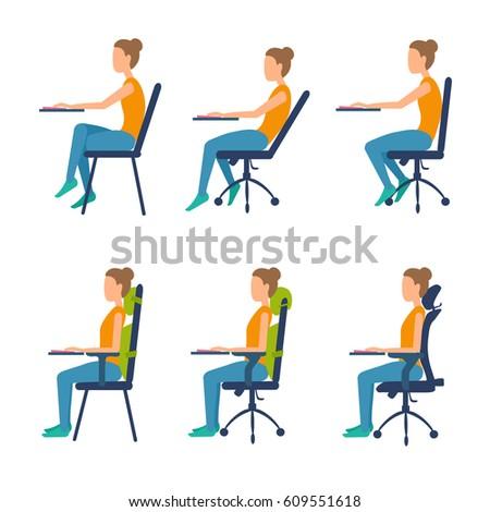 Ergonomic Office Chair Sketch