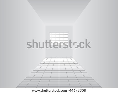 corridor vector - stock vector
