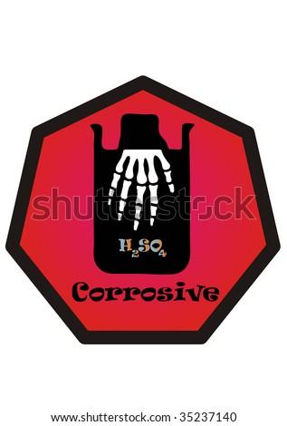 corrosive acid - stock vector