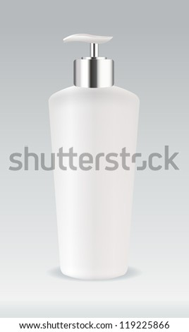 Cosmetic container bottle - stock vector