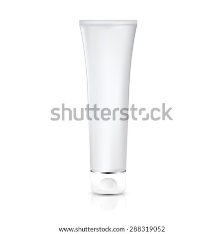 Cosmetic container, bottle. Tube Of Cream