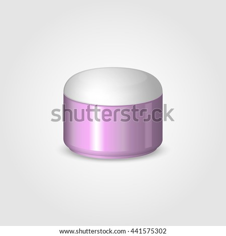 Cosmetic jar. Cream jars. Vector illustration.