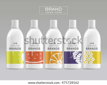 Product Label Template Cosmetic Package Template Design Attractive