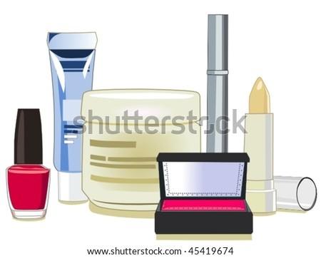 Cosmetics - stock vector