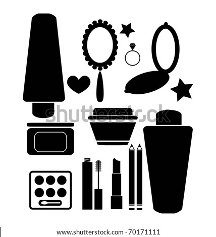 hand mirror clipart black and white. cosmetics and beauty products hand mirror clipart black white u