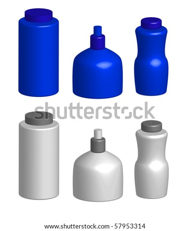 Cosmetics bottles vector (eps10) - stock vector