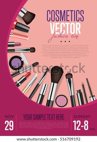 Beauty Store Emblem Type Design Cosmetics Stock Vector ...