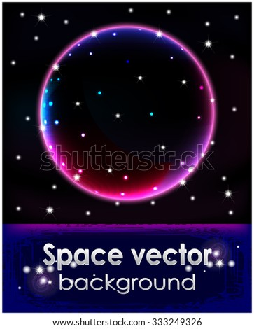 Cosmic background with stars