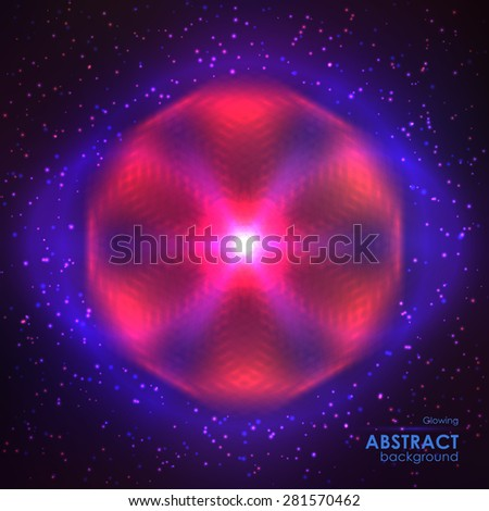Cosmic shining vector abstract background