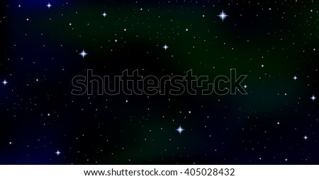 Cosmic vector starry background with constellations and stars in outer space. Night starry sky, Aurora Borealis vector background - stock vector