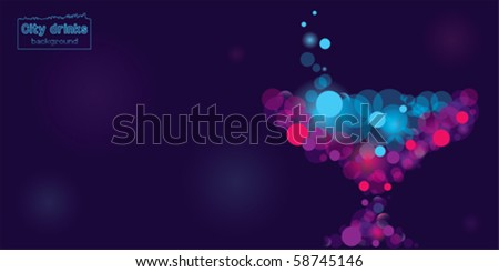 Cosmo drink background, illustrator 10. - stock vector