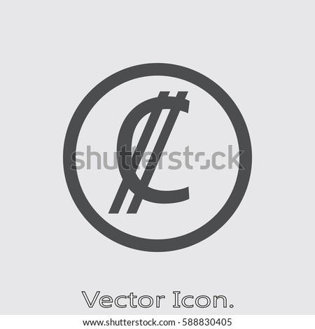 Costa Rica Colon Icon Isolated Sign Stock Vector 588830405