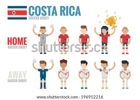 Costa Rica soccer icon - stock vector