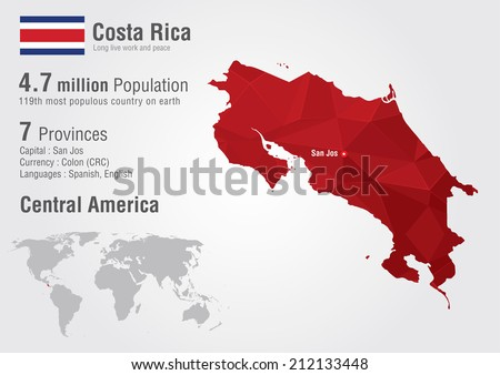 Costa rica world map pixel diamond vectores en stock 212133448 costa rica world map with a pixel diamond texture world geography gumiabroncs Images