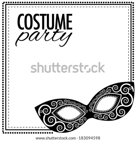 Costume party invitation template eps 10 stock vector 183094598 costume party invitation template eps 10 vector grouped for easy editing no open shapes stopboris Choice Image