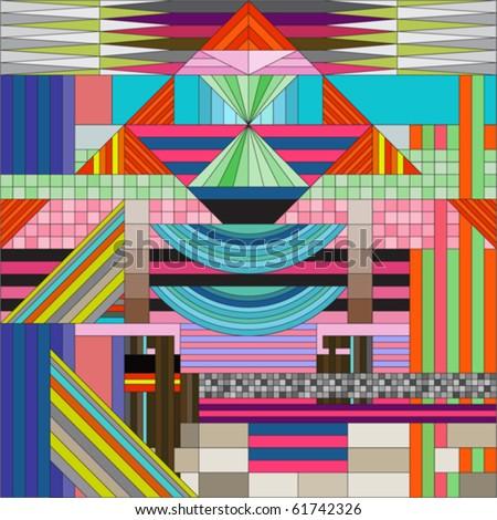 cotemporary art - stock vector