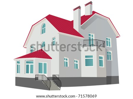 Cottage. Vector illustration - stock vector