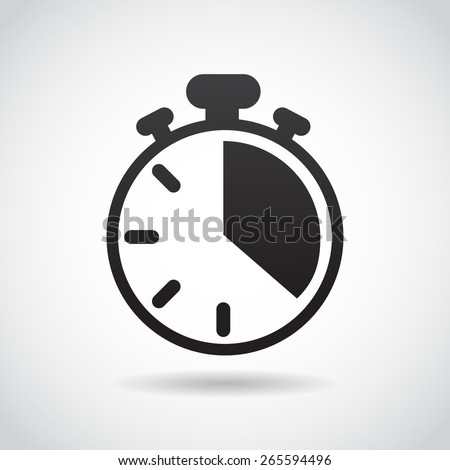 Count down icon isolated on white background. Vector art. - stock vector