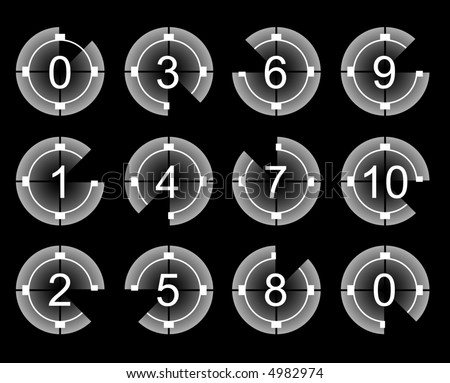 Countdown for film and movie (vector) - stock vector