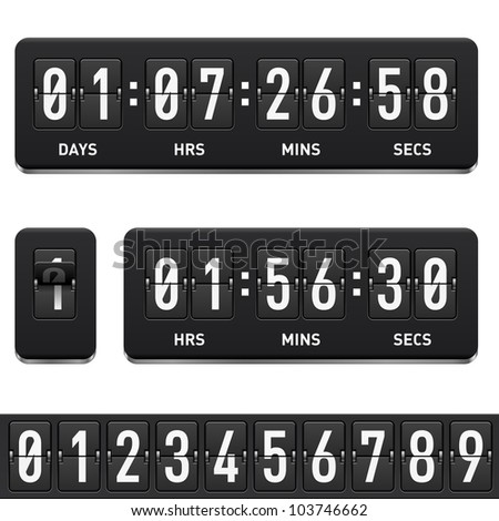 Countdown timer. Illustration on white background for design - stock vector