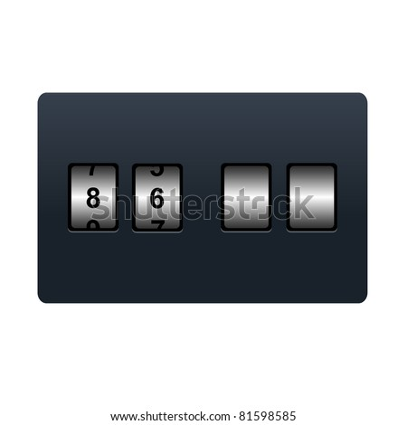Countdown Tmer, Isolated On White Background, Vector Illustration - stock vector