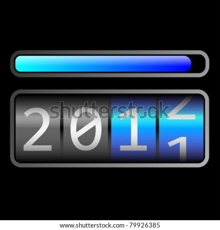 counter new year 2011-12 eps10 - stock vector