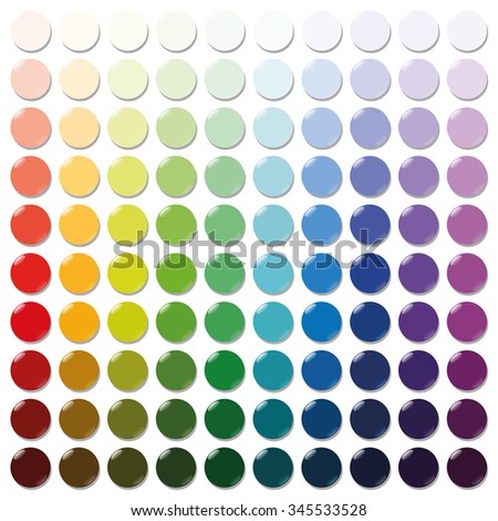 counters exactly one hundred round colorful stock vector 345533528 shutterstock. Black Bedroom Furniture Sets. Home Design Ideas