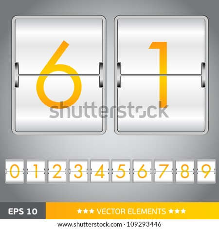 counting device for web design - stock vector