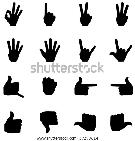 Counting fingers icon - stock vector