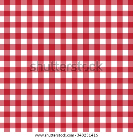 Country, classic, tablecloth, picnic, checkered pattern. Vector art.