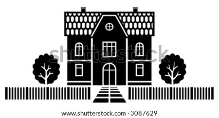 Country house vector illustration - stock vector