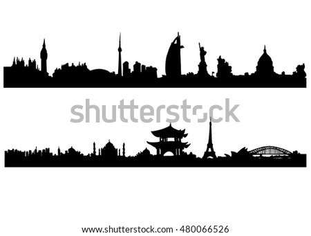 country, illustration, city, architecture, tower, travel, symbol