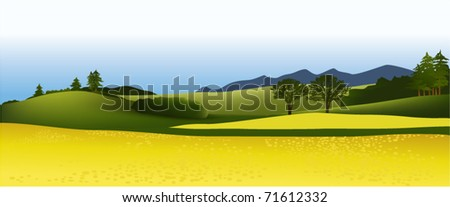 Country landscape - stock vector