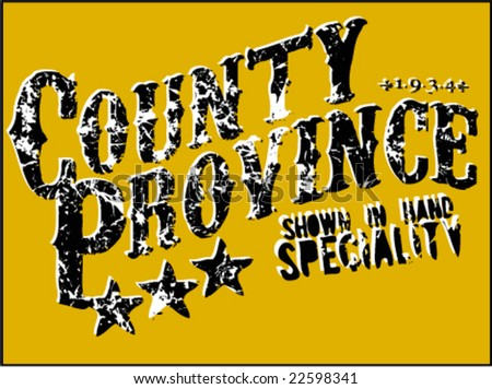 country province t-shirt print design artwork - stock vector