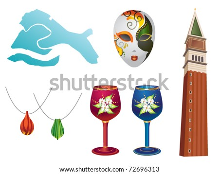 Country Series â?? Venice (Italy) - stock vector