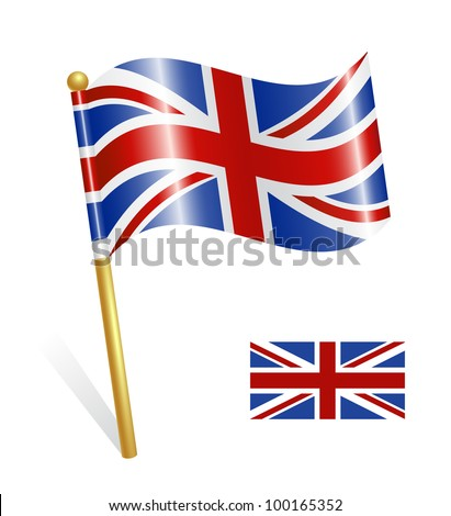Country UK flag - stock vector