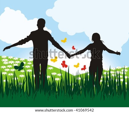 Couple - stock vector