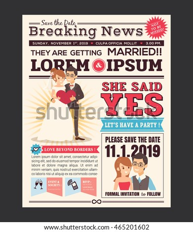 Newspaper Template Stock Images, Royalty-Free Images & Vectors