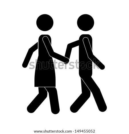 couple design over white background vector illustration   - stock vector