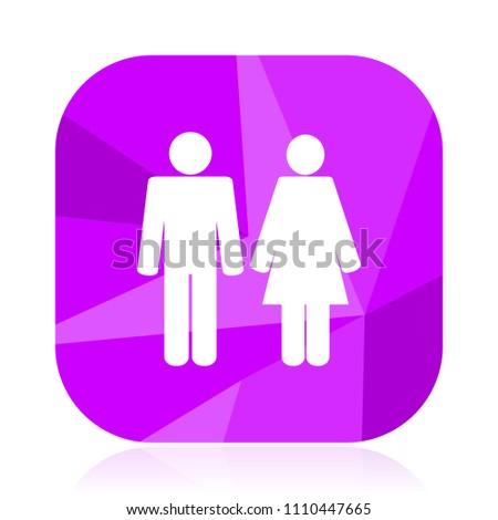 Heterosexual marriage symbol