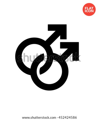 Couple gay Icon Flat Style Isolated Vector Illustration - stock vector